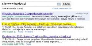 Tytuł strony w wynikach wyszukiwania