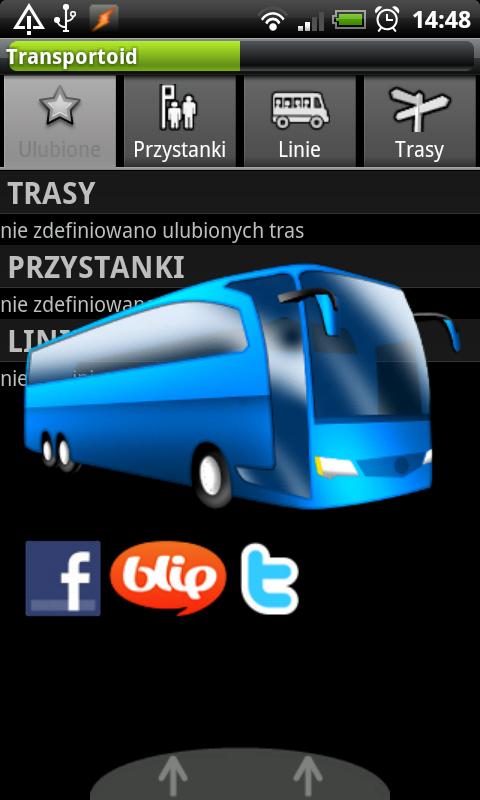 Ekran ładowania Transportoid (grafika z serwisu transportoid.com)