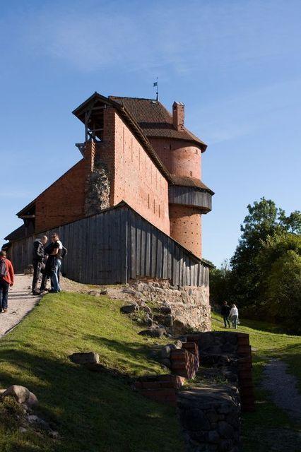 Zamek w parku Gauja