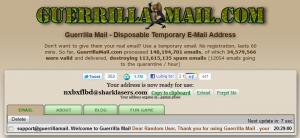 Skrzynka pocztowa Guerrilla Mail
