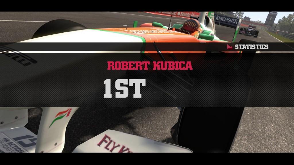 Robert Kubica wygrywa w F1 2011