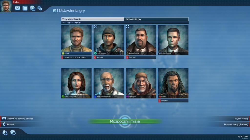 Anno 2070 - Gra ciągła - Wybór rywali
