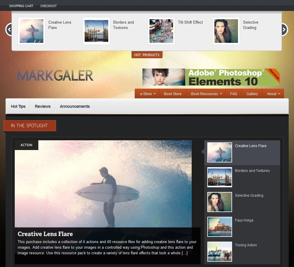 Strona Marka Galera autora ksiażki Adobe Photoshop Elements 9 Maksymalna wydajność