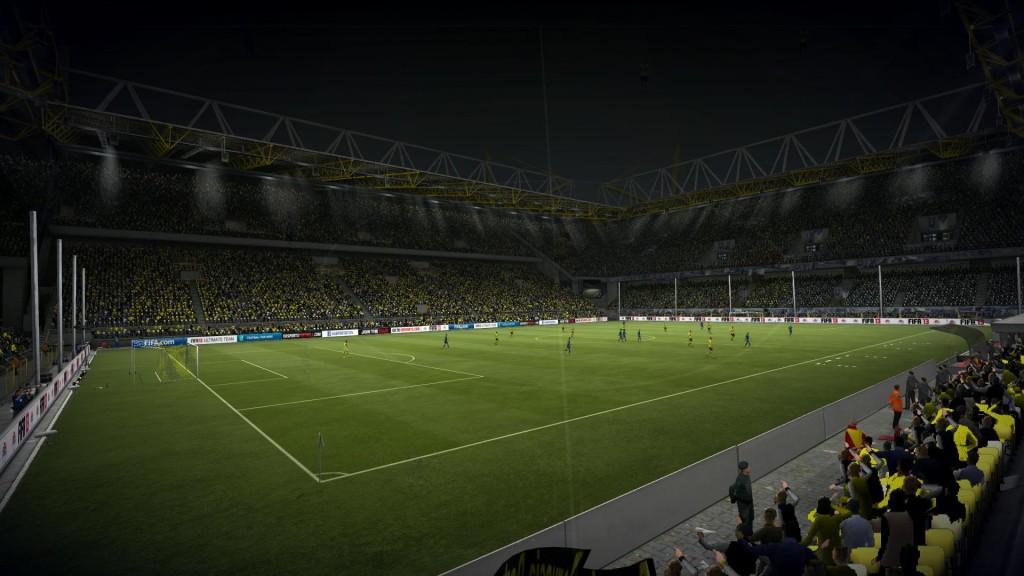 FIFA 13 - Boisko widziane z narożnika stadionu