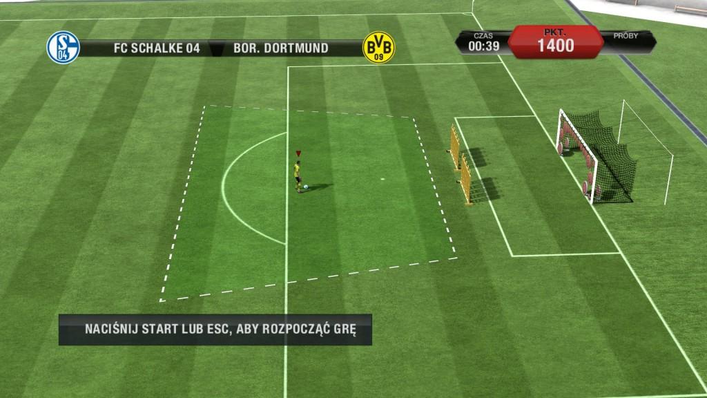 FIFA 13 - Mini gra przed meczem pomagająca ćwiczyć strzały z pierwszej piłki