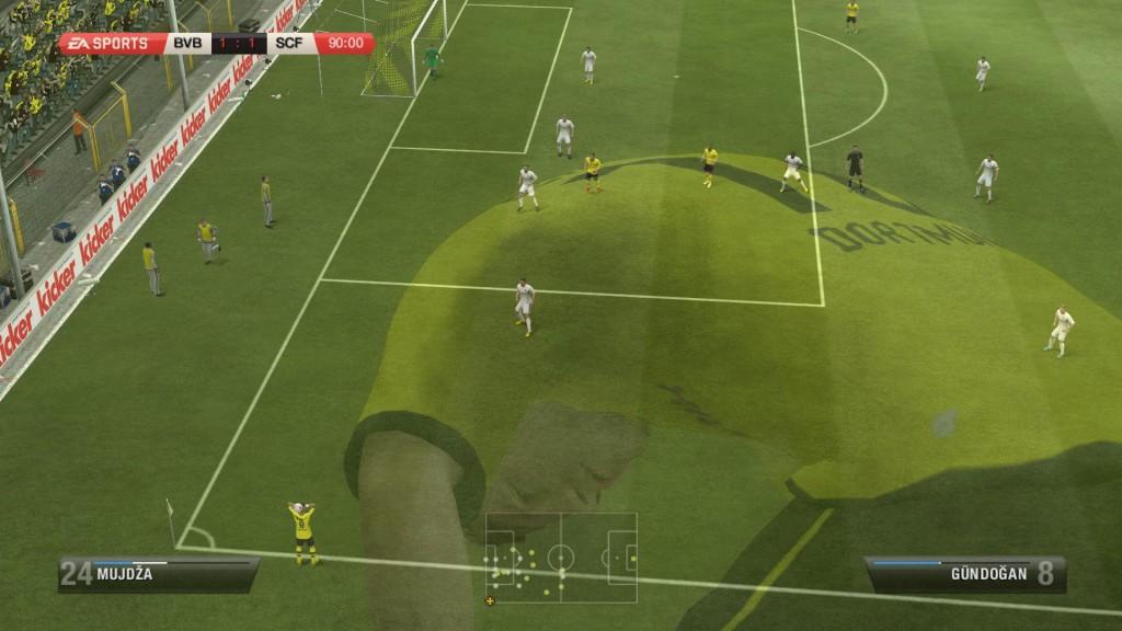 FIFA 13 - Zawodnik niezadowolony po nieudanej akcji