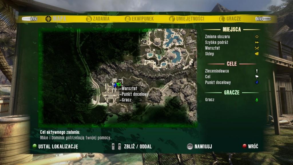 Fragment mapy wyspy - Dead Island