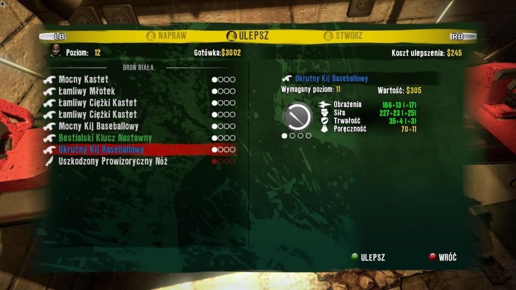 Ulepszenia broni w Dead Island