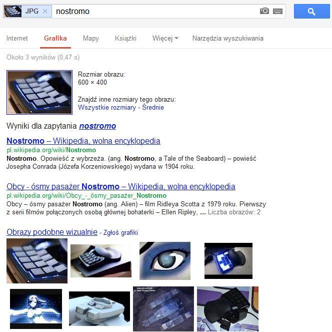 Szczegóły zdjęcia w wynikach wyszukiwania Google