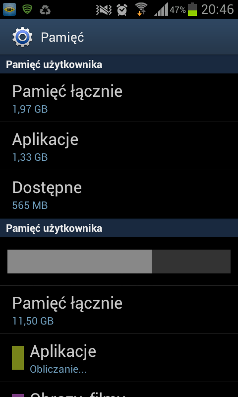 Wykorzystanie przestrzeni wbudowanej pamięci telefonu w systemie Android