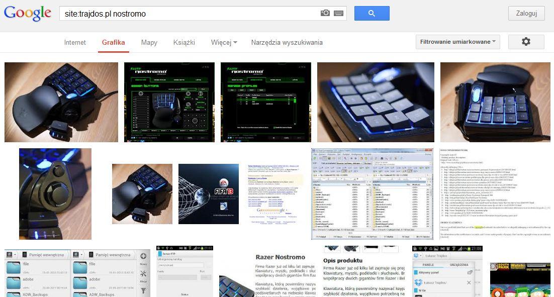 Wyniki wyszukiwania grafik w Google