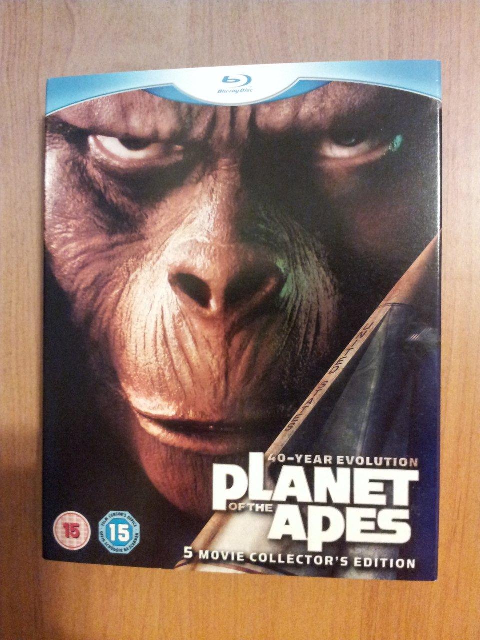 Okladka pakietu pięciu części serii Planeta Małp