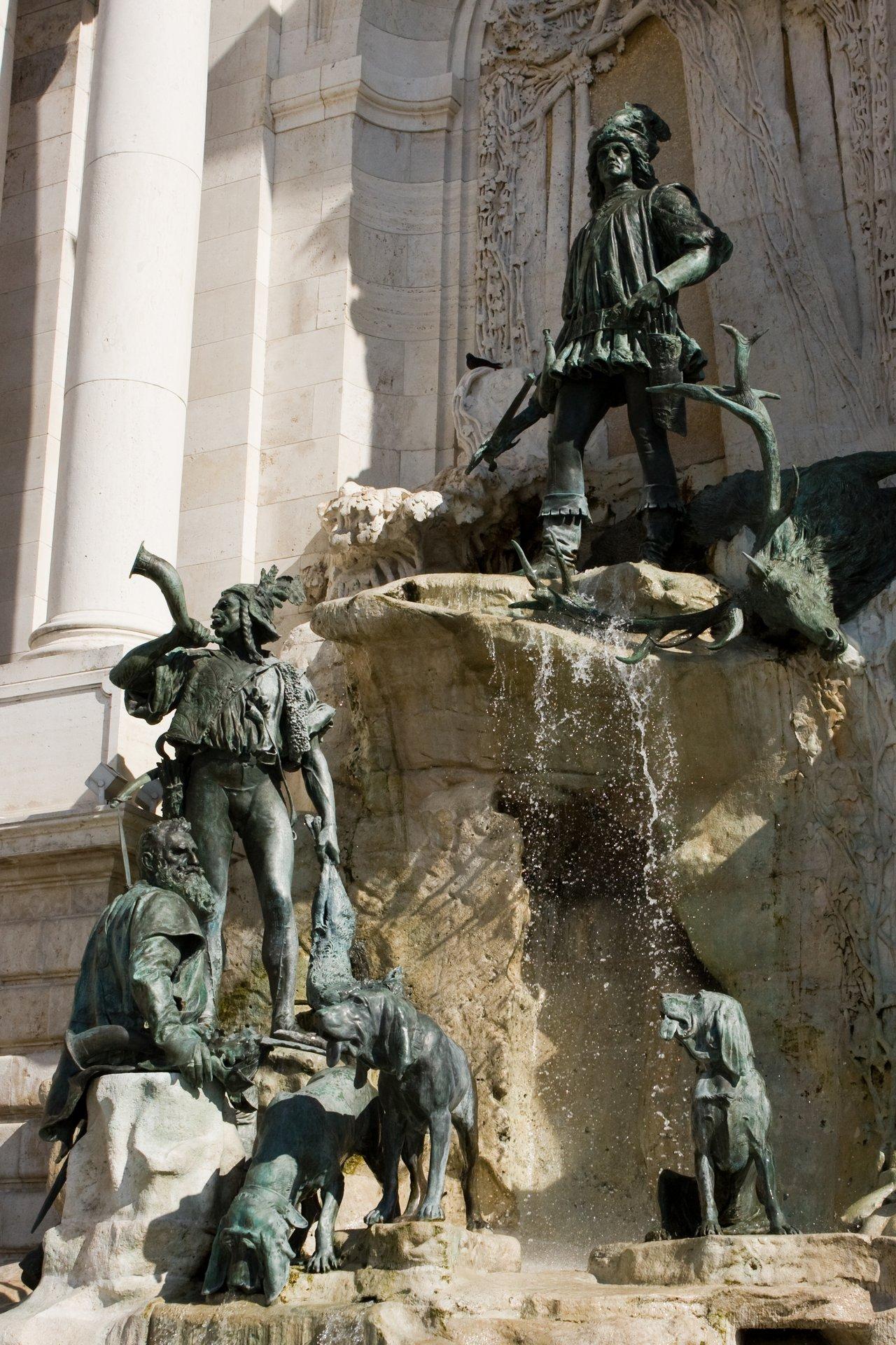 Fontanna Macieja na Zamku Królewskim w Budapeszcie