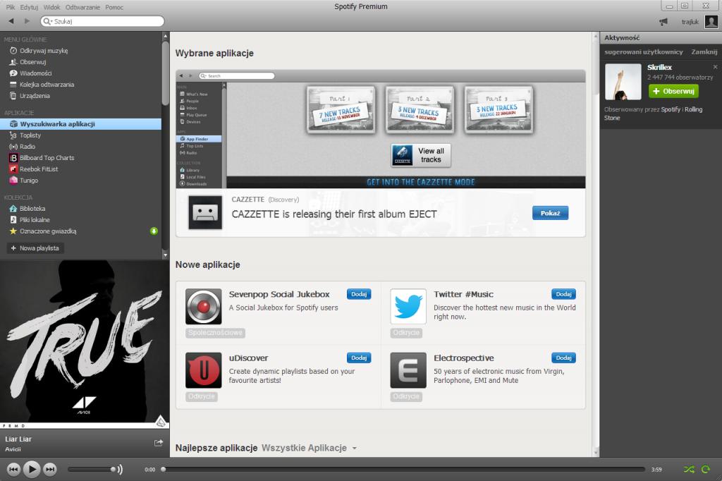 Aplikacje dla Spotify w Windows