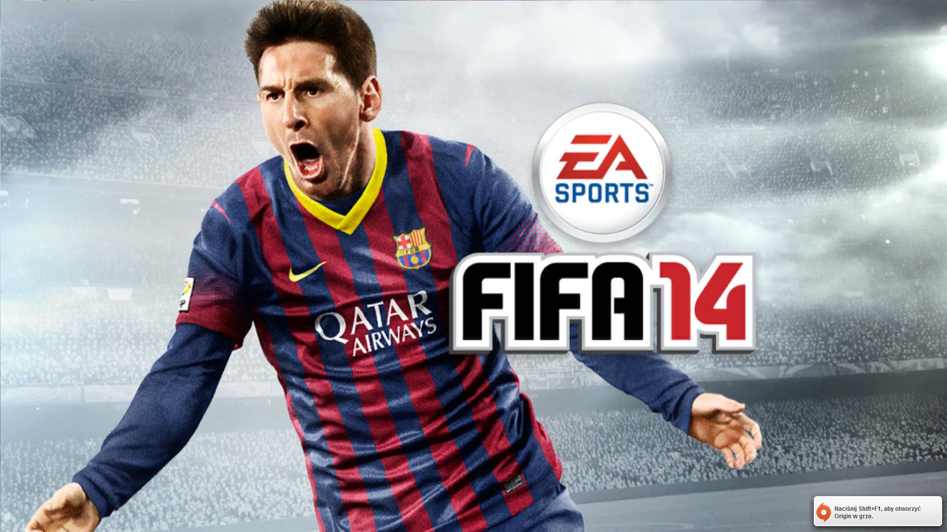 Lionel Messi na ekranie startowym FIFA 14