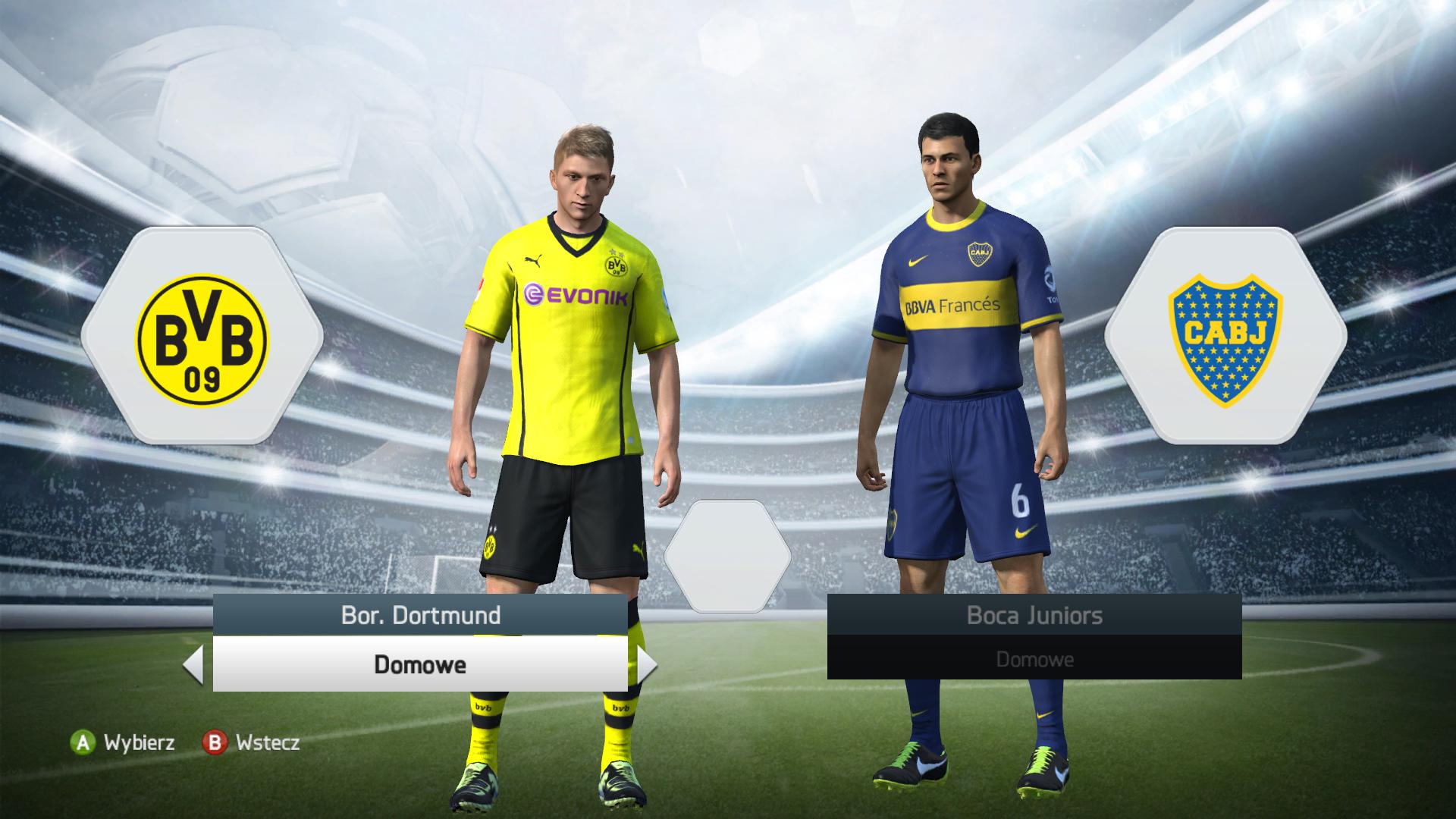 Marco Reus na ekranie ustawień meczu w FIFA 14