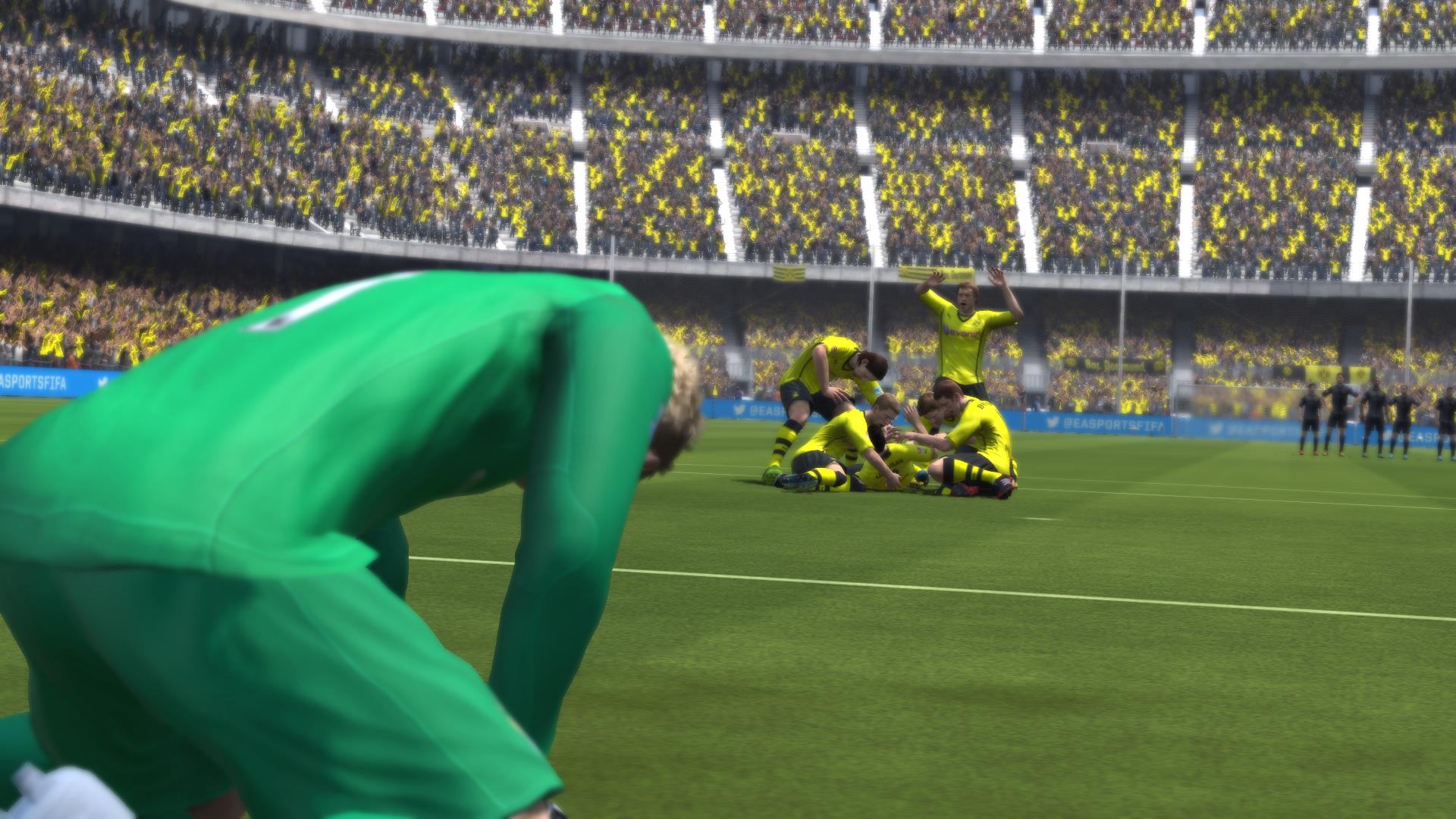 Radość zawodników w FIFA 14 po wygranym meczu