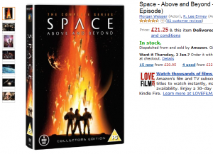 Okładka Space Above and Beyond DVD na Amazon.co.uk