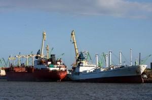 Statki w porcie w Kłajpedzie